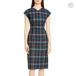 Hugo boss plaid dress